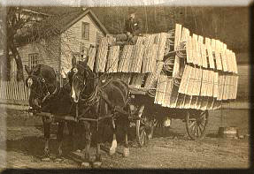 Picture of Horse-drawn cart with Hay Rakes from 1883