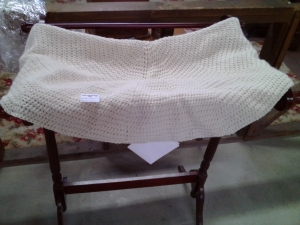 Cream-colored Afghan 2015 Raffe Item by Annie Blackwood